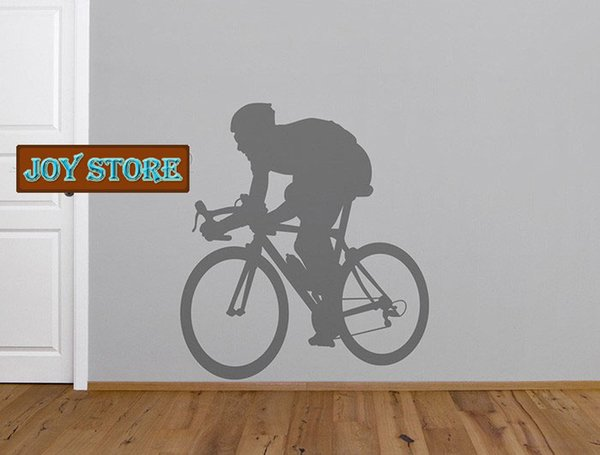 Vinyl Wall Art Decor For the Bicycle Enthusiast Wall Sticker Home Decoration Wallpaper Wall Art 60cmX65cm Free Shipping