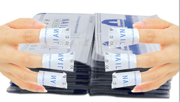 Nouveau 200 Pcs / lot Gel Laque Vernis À Ongles Feuille Facile À Remover Nettoyant Enveloppes Acétone Kit livraison gratuite DHL 60047