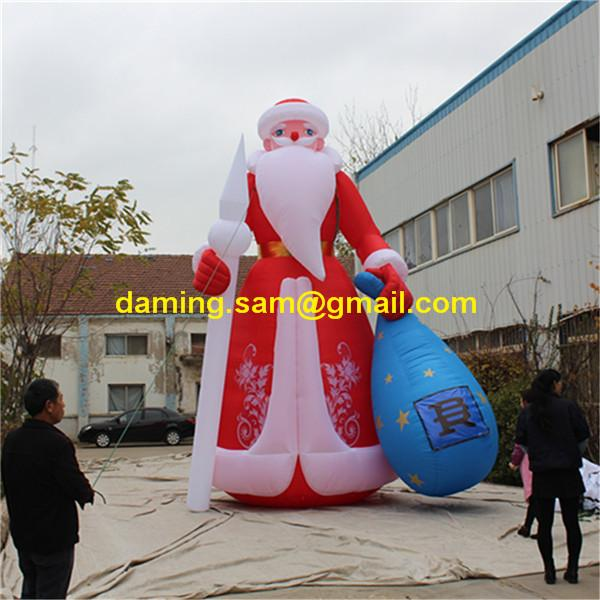 20ft High Santa Inflatable For Christmas LED Stage Event Decor Inflatables Supplier 2018 Nightclub Parade Clearance