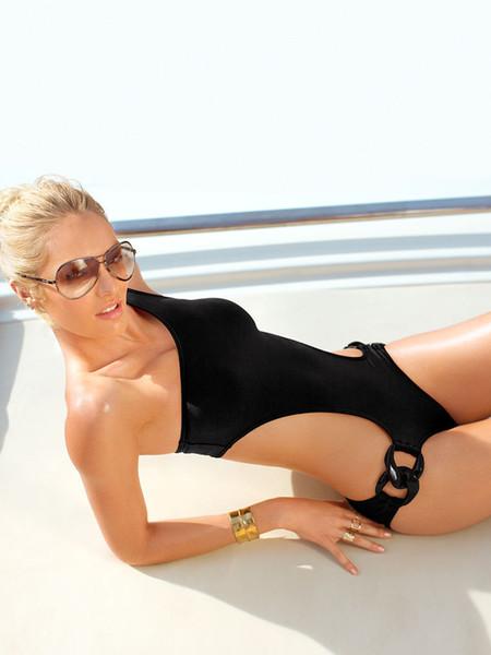 2015 New sexy one piece swimwear set brazilian one shoulder design fashion swim beach wear suit set brand new women beach suite