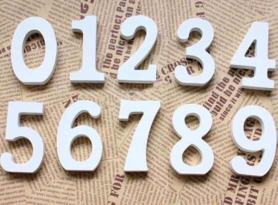 best selling White Wood Wooden Numbers Alphabet For Wedding Birthday Home Decor decoration