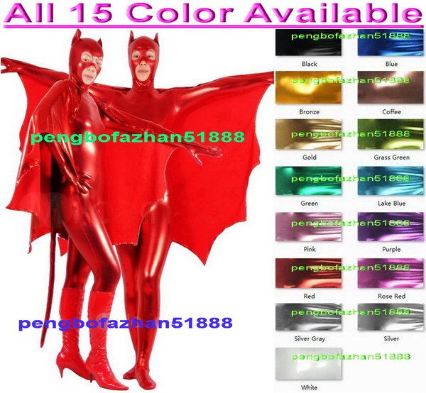 Sexy Catwoman Suit Outfit New 15 Color Shiny Lycra Metallic Cat Suit Catsuit Costumes Unisex Fantasy Catwoman Bodysuit Cosplay Costumes P100