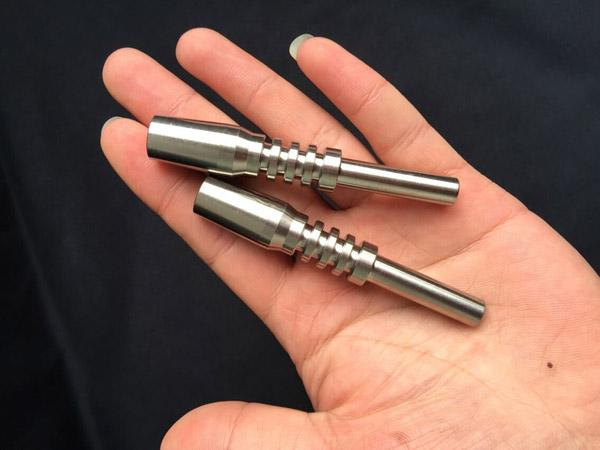 Hot Selling 10mm 14.5mm 18.8mm Nectar Collector Titanium Nail Glass Bong GR2 Titanium Nail for Honey Dab Straw Concentrate Water Pipe