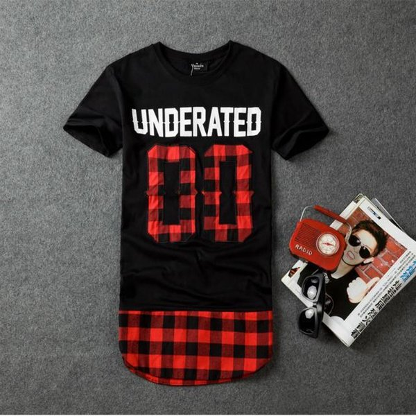 Atacado-quente Underwater bandana homens estendido camisetas homens skate t-shirt Hip Hop camiseta Harajuku Streetwear vestuário