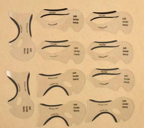 NEW ARRIVAL 110Pcs 1 Sets Beauty Cat Eyeliner Models Smokey Eye Stencil Template Shaper Eyeliner Makeup Tool free shipping