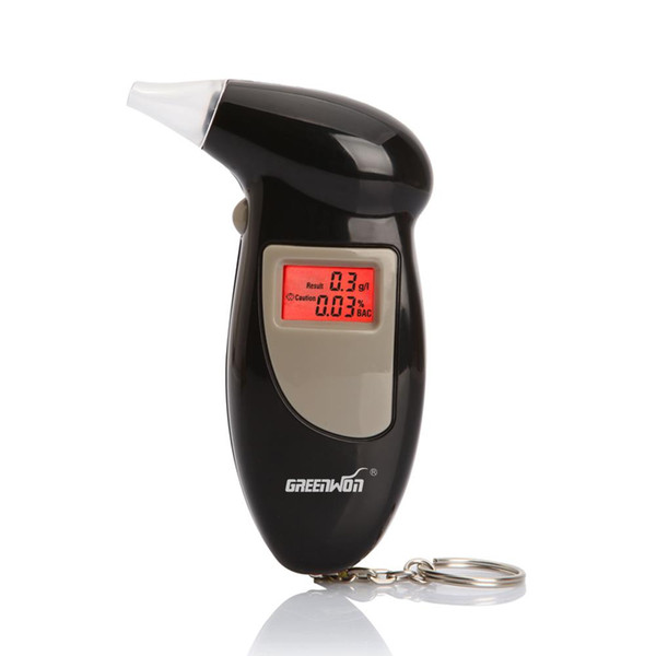 1 PCS Best Selling Key Chain Alcohol Tester Business Gift Digital LCD Display Alcohol tester Breathalyzer