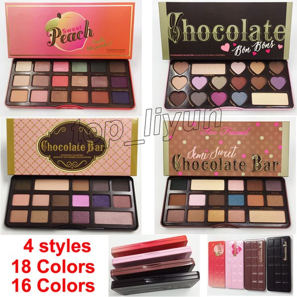 Makeup 16 Color Chocolate Bar Natural Love Eye Shadow Palette Ultimate Neutral 18 Colors Eye Shadow peach Palette Cosmetics DHL free
