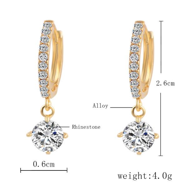 Orecchini di cristallo austriaco per le donne Oro argento 925 Brinco Orecchini da sposa Bijoux Femme Orecchini gioielli di moda Grandi orecchini