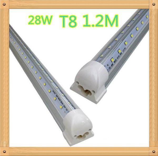 Integrierter Kühler Tür 1.2m 1200mm 4ft 28W führte hohes Licht T8-Rohr SMD2835 helles 4 Fuß 2800lm 85-265V Leuchtstoffbeleuchtung Freies Verschiffen