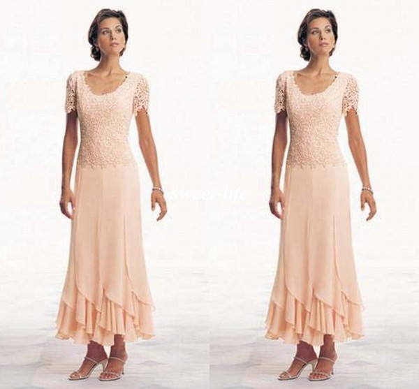 Modern 2019 plu ize mother of the bride dre e hort leeve coop chiffon a line tea length orange cu tom made evening gown formal dre