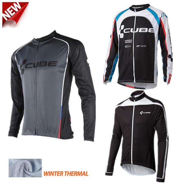 Al por mayor-Ciclismo hombres cubo jackest 2015 invierno polar de lana hombre sportwear mountain bike chaquetas invierno abbigliamento ciclismo