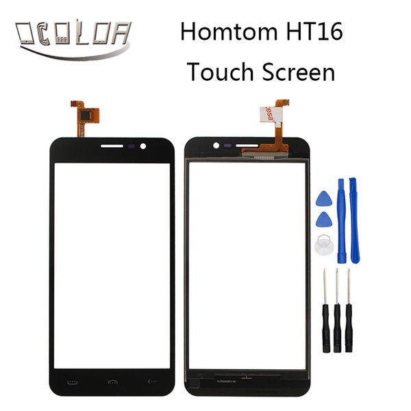 Wholesale- Homtom HT16 Touch Screen Original 5.0inch Touch Panel Perfect Repair Parts for Homtom HT16 Mobile Accessories Free Shipping