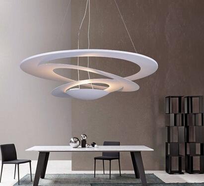 modern pendant lamp minimalist design suspension lights metal material hanging light elegant light lounge sitting room l 50/65/80/101cm