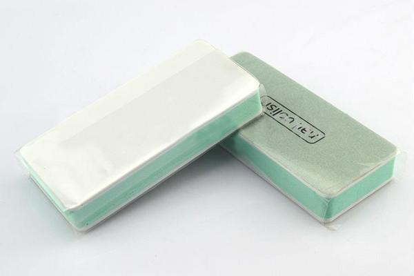 Al por mayor-407-32pcs / lot Nails File Sponge Pulido 2 Way Sanding Buffer Block Files Nail Art Tools B016