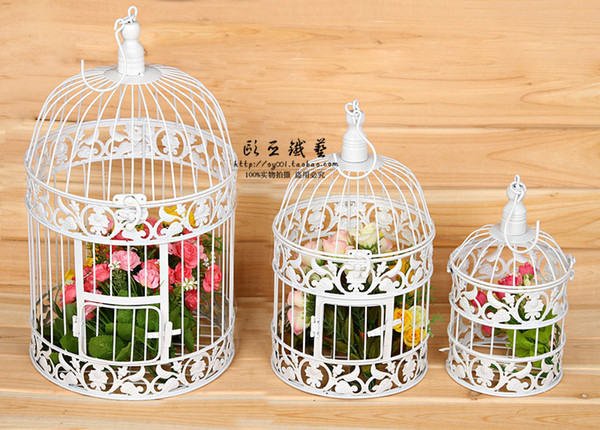2018 wrought iron cage window cage cage flower adornment balcony cage flower adornment balcony flower wedding decoration items junglespirit Image collections