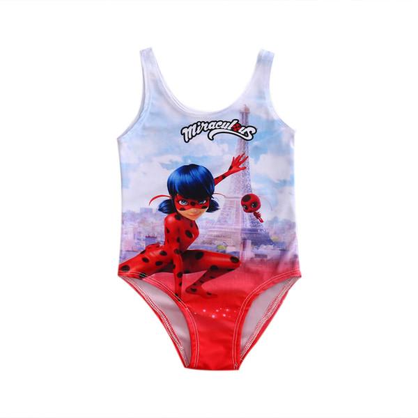 871a9ae7eec62 Wholesale- 2017 New Cute Character Baby Girls Children One Piece Swimming  Costume Set Bathing Swimsuit Swimwear