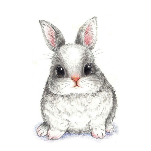 Cute Bunny Diamond Painting 5D Diamond Mosaic Rhinestone Cross Stitch Embroidery Home Decor Handmake Gifts (Free Shipping)