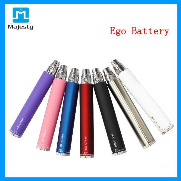 Evod Kit Ecig Batterie in arcobaleno con tensione regolabile 3.2V-4.8V 1300mAh Ego Battery Ego Twist in vendita
