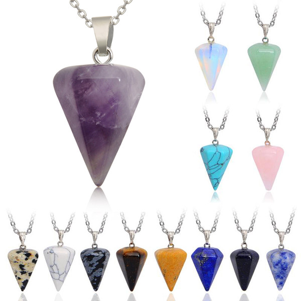 Mix hexagon column necklaces