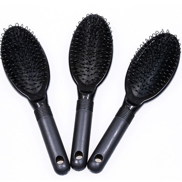 Pettine per capelli Spazzola per capelli Spazzola per capelli COLORE NERO per estensioni di capelli umani o parrucche / strumento salone di bellezza