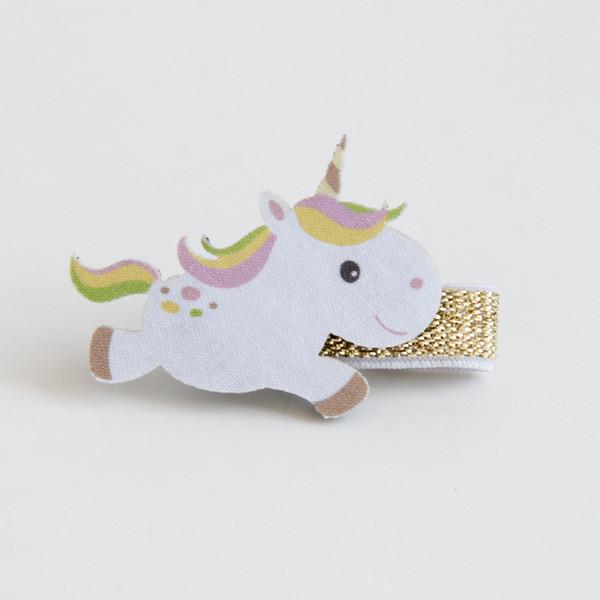 Boutique 12pcs Fashion Cute Unicorn Hairpins Kawaii Solid Felt Horse Animal Girls Hair Clips Hair Accessories Headware