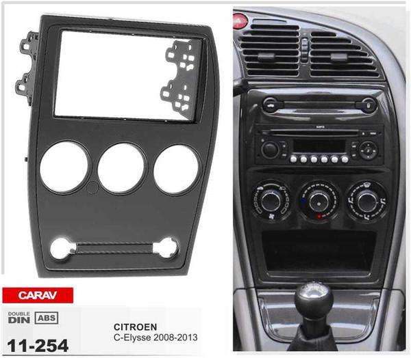 CARAV 11-254 Fáscia de Rádio de Qualidade Superior para CITROEN C-Elysse 2008-2013 Estéreo Fascia Traço CD Kit de Instalação de Guarnição