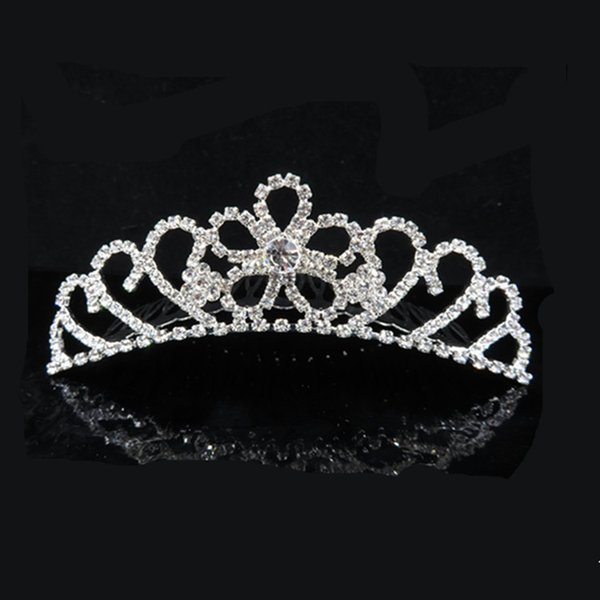 Gorgeous Sparkling Silver Big Wedding Tiaras Hairband Crystal Bridal Crowns For Brides Hair Jewelry Headpiece For Women