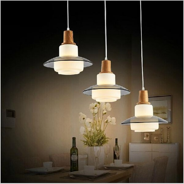 2016 New design Modern Beige Glass three head pendant light liustra for dinning room bedroom restaurant lighting liustry lamps