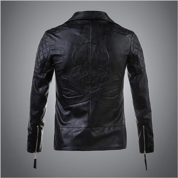 Großhandel 2018 Neue Mode Lässig Motorrad Lederjacke Frauen Hohe Qualität Schädel Muster Frauen Lederjacke Kleidung Von Ly_topfashion, $55.38 Auf