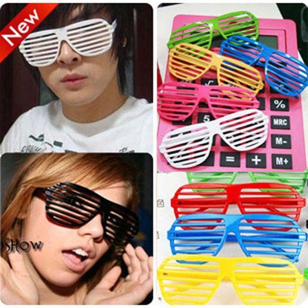 EMS gratuit 13 couleur mode obturateur lunettes 2015 nouvelle fête des fêtes JokesFunny Toys Shutter Shades lunettes lunettes de soleil B