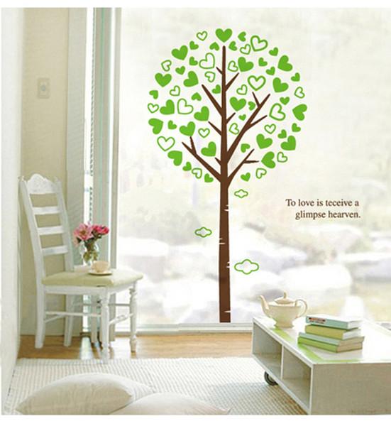 Großhandel 3d Großen Grünen Baum Wand Kunst Wandbild Zu Lieben Ist Erhalten Einen Blick Himmel Wand Zitat Aufkleber Aufkleber Home Art Decor Wallpaper