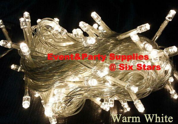 ARTICOLI DI PROMOZIONE 10M 100 LED Clear Wire LED String Lights 110V / 220V per la decorazione della festa di Natale X'mas luci natalizie