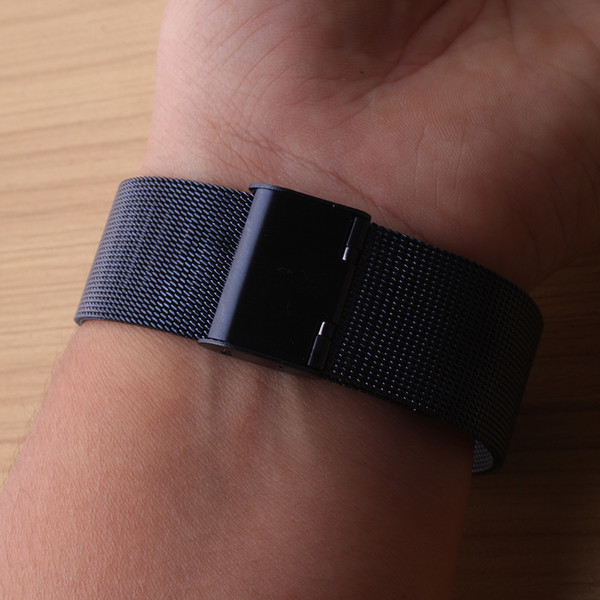 beautiful watchband color blue stainless steel metal mesh watch band strap bracelet 18mm 20mm 22mm 24mm for fashion watches replace new hot