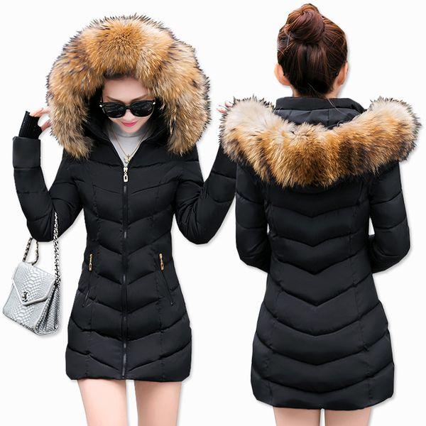 best selling Wholesale- Snow wear wadded jacket female 2017 autumn and winter jacket women slim short cotton-padded jacket outerwear winter coat women