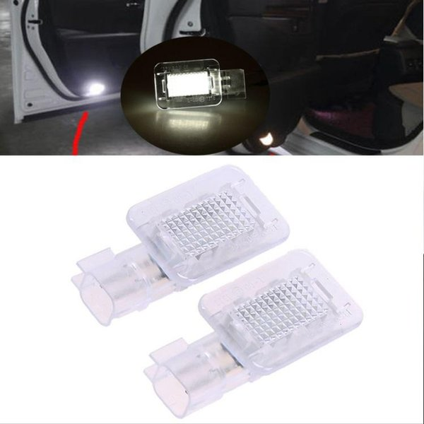 3528SMD Car LED Welcome Under Door Courtesy Light Lamp Bulb Auto Courtesy Light Source For Volvo C30 V70 XC70 XC90 S60 S80 V60