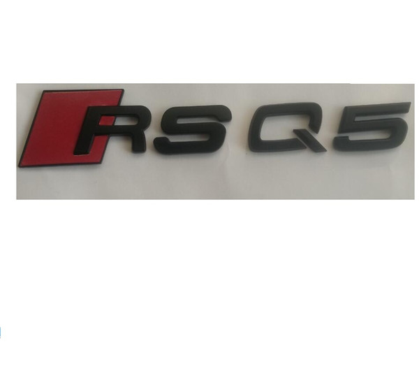 Matte Black RS Q5 ABS Number Letters Trunk Emblems Badge Sticker for Audi RSQ5