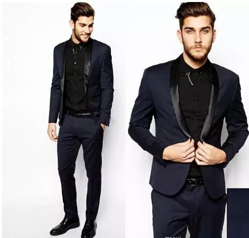 Custom Made Black Groom Tuxedos Men Suits Wedding Worn In James Bond Wedding Suit For Men Groom Evening Gown Party Wear Jacket Pants White Tux With