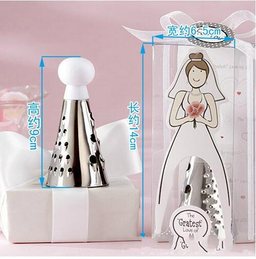 top popular Wedding bride The Gratest Love of All Stainless Steel Cheese Grater in Showcase Gift Box 100pcs lot 2019