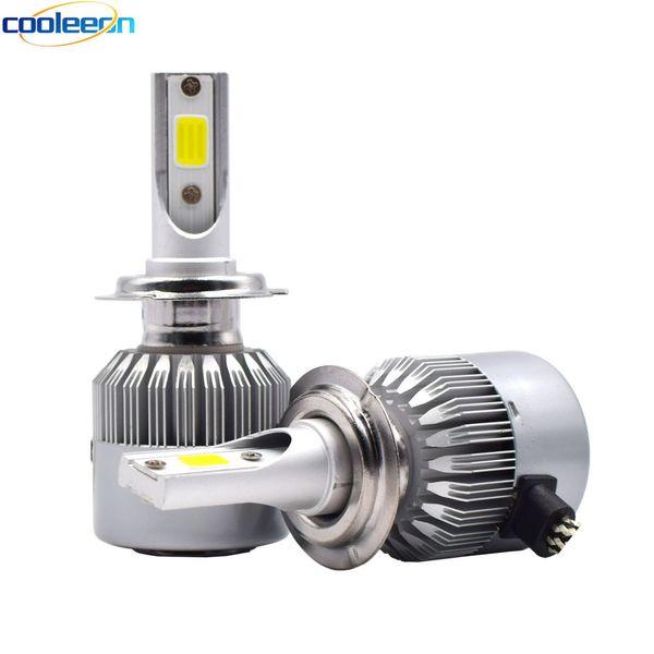 Cooleeon HL-C6 H1 H4 H7 LED Car Headlight H3 H8/H11 HB3/9005 HB4/9006 9012 9007 H13 6000K 72W 8000LM Auto Headlamp Light