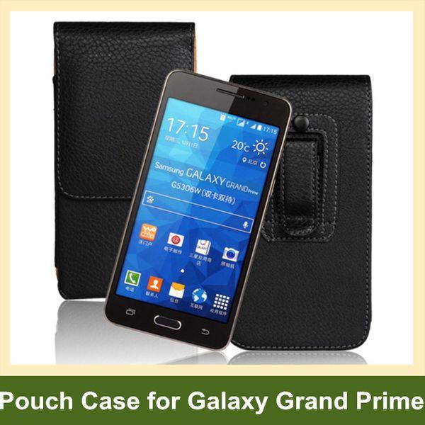 Neuester Gürtelclip PU-Leder-vertikaler Schlag-Abdeckungs-Beutel-Kasten für Samsung-Galaxie großartige G530 freies Verschiffen