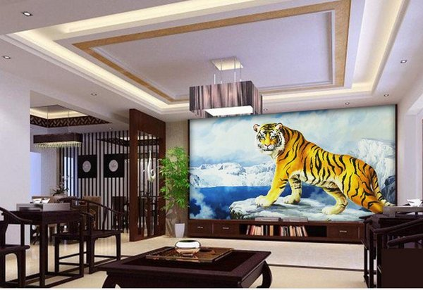 3d Wallpaper For Room King Of The Forest Tiger Photo Wallpaper For Walls Cartoon Wallpapers Celebrities Wallpapers From Chinamural2015 2815