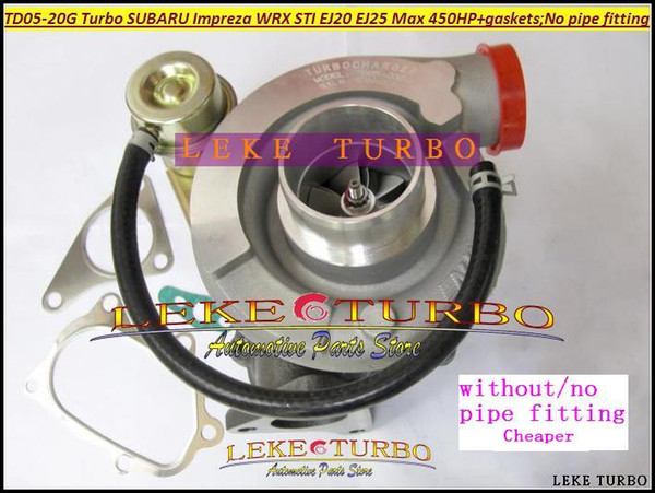Wholesale TD05-20G TD05-20G-8 TD05 20G Turbo Turbocharger For SUBARU Impreza WRX STI EJ20 EJ25 MAX 450HP Gaskets; without no Pipe fitting