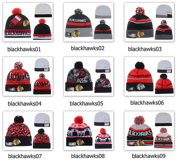 top popular Winter Wool Hats Blackhawks Beanies 2019