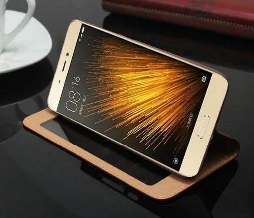 Business per Xiaomi Mi5 M5 Custodia Cover Luxury Flip Window Colorata Custodia in pelle ultra sottile per Xiaomi Mi5 Mi5s M5 M5s