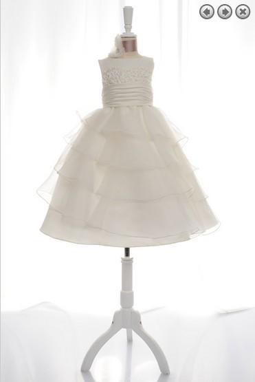 Ücretsiz kargo çiçek kız düğün için elbiseler 2018 ilk cemaat noel kızlar için küçük kız pageant önlük beyaz elbise