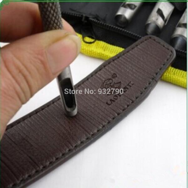 9 adet Erkekler Kadınlar Deri Kemer Izle Conta Kemer Hollow Delik Delme Punch Kesici El Aracı 2.5-10mm Leatherworking Araçları Kesiciler sipariş $ 18no