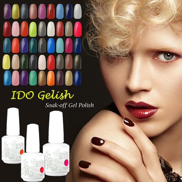 IDO Gelish Soak Off Nail Art UV LED Gel Nail Polish 299 Colores Base cosmética Top Coat Manicure Set