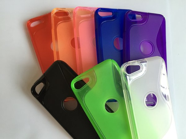 For Apple Ipod Touch 6 6th Itouch6 S Line Fingerprint Circle Soft TPU Silicone Gel Case Clear Crystal Rubber Colorful skin Cover 10pcs