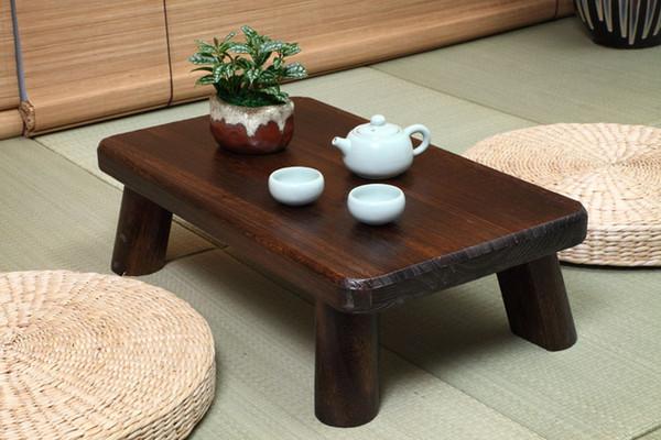 Acheter Petit Japonais Table En Bois Traditionnel Rectangle 60 35cm Paulownia Asian Antique Furniture Living Room Table Basse Floor Pour Manger De