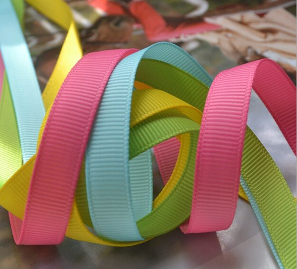 top popular 15% off 2015 new 3 8''(9mm) 196 colors 100% polyester plain solid color grosgrain ribbon gift ribbons and bows accessories 100yards 2021